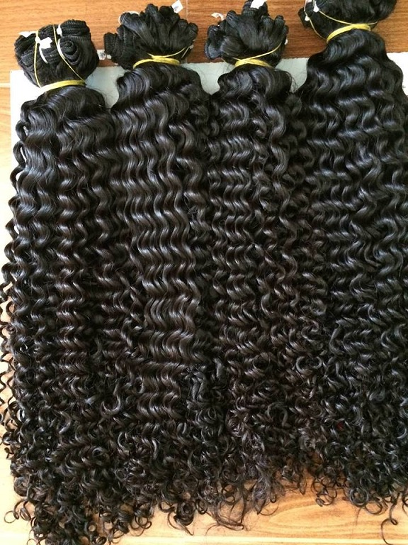 22 Inches Weave Curly Hair Vietnam Hair Extensions