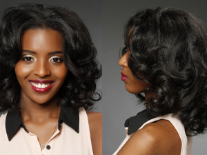 OUTSTANDING BLACK WAVY MEDIUM HAIRSTYLES