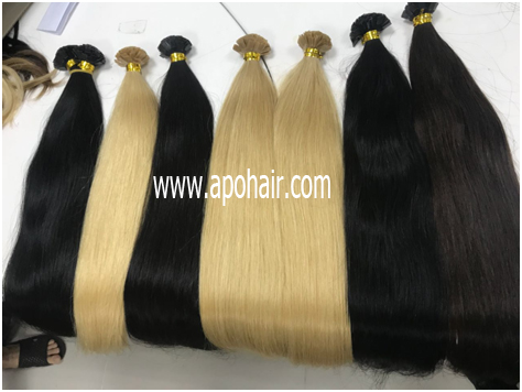Straight Flat Tip Hair Made From Euro Standard Quality Hair