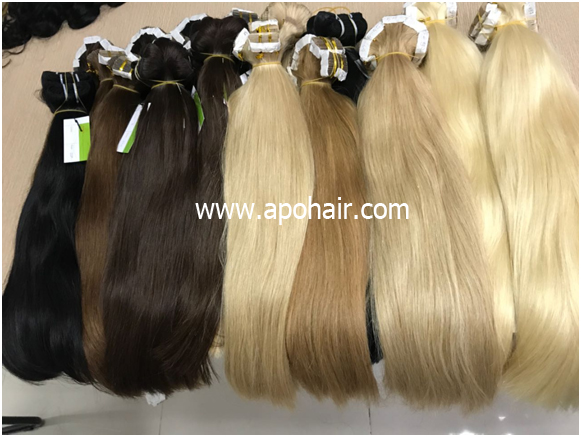 Straight Tape And Weft Colored Hair