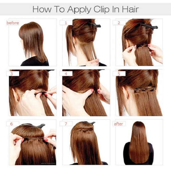 02 22 Inch Clip In Extension