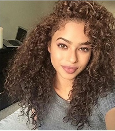 02 Light Brown Curly Wig