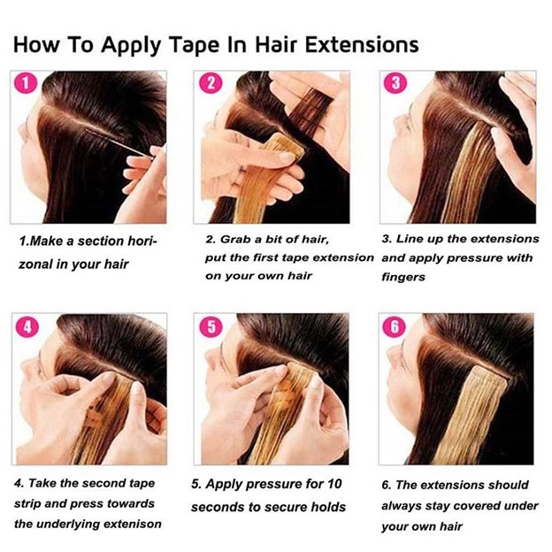 06 14 Inch Tape In Extension