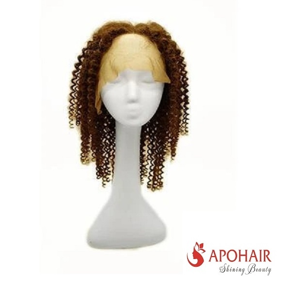 06 Light Brown Curly Wig