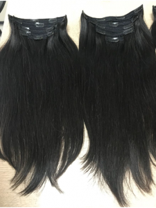 Vietnamese clip in straight natural color hair 16 inches