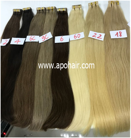 Straight Tape Hair Made From Euro Standard Quality Hair